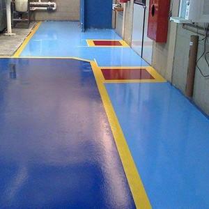Pintura epóxi piso industrial